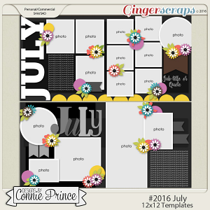 #2016 July - 12x12 Template Pack (CU Ok)