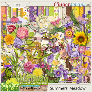 Summers' Meadow kit by Clever Monkey Graphics & Key Lime Digi Design