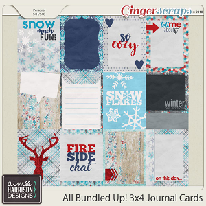 All Bundled Up Journal Cards by Aimee Harrison