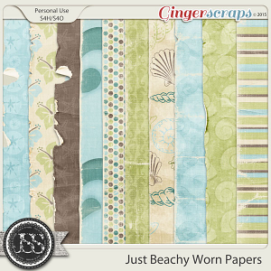 Just Beachy Worn and Torn Papers
