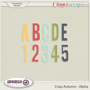 Crisp Autumn Alpha by Aprilisa Designs