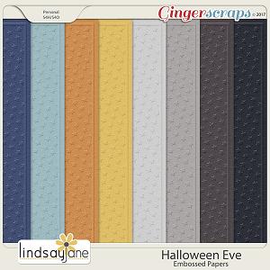 Halloween Eve Embossed Papers by Lindsay Jane