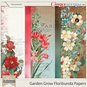 Garden Grow Floribunda Papers by JoCee Designs