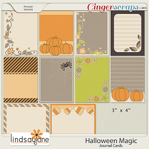 Halloween Magic Journal Cards by Lindsay Jane