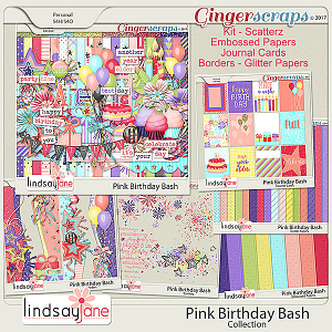 Pink Birthday Bash Collection by Lindsay Jane