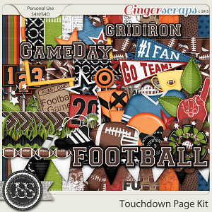 Touchdown Digital Scrapbooking Kit
