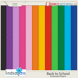 Back to School Embossed Papers by Lindsay Jane