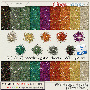 999 Happy Haunts (glitter pack)