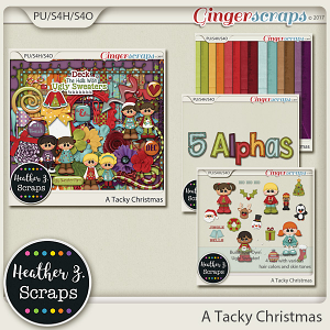 A Tacky Christmas BUNDLE by Heather Z Scraps