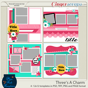 Three's A Charm Templates
