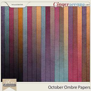 October Ombre Papers by JoCee Designs