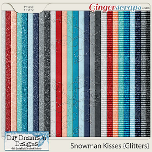 Snowman Kisses {Glitter Papers} by Day Dreams 'n Designs