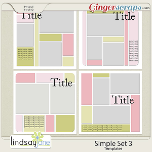 Simple Set 3 Templates by Lindsay Jane