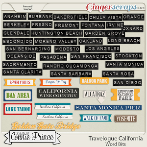 Travelogue California - Word Bits