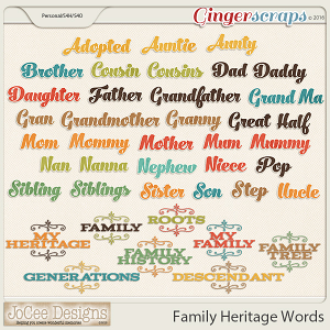 Family Heritage WordArt