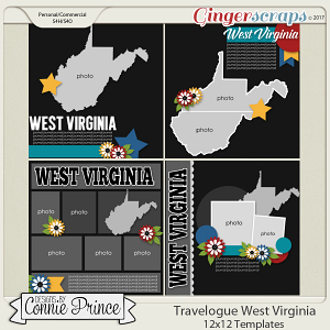 Travelogue West Virginia - 12x12 Temps (CU Ok)