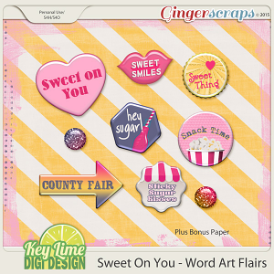 Sweet On You - Word Art Flairs