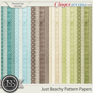 Just Beachy Pattern Papers
