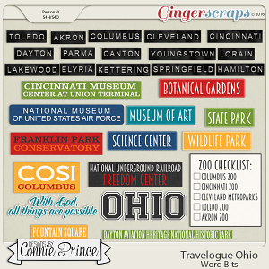 Travelogue Ohio - Word Bits