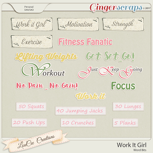 Work It Girl Word Bits by LouCee Creations