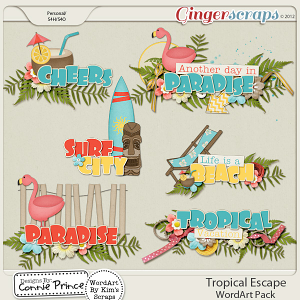 Retiring Soon - Tropical Escape - WordArt