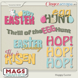 Hoppy Easter WORD ART by MagsGraphics