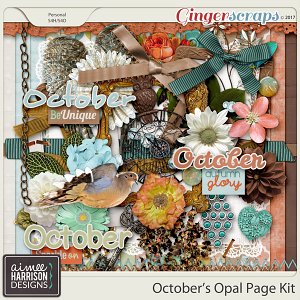 October's Opal Page Kit by Aimee Harrison