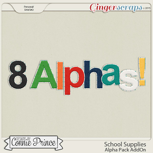 School Supplies - Alpha Pack AddOn