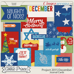 Project 2015 December - Journal Cards
