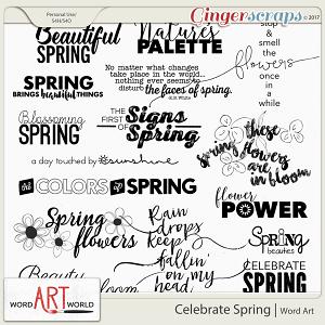 Celebrate Spring Word Art