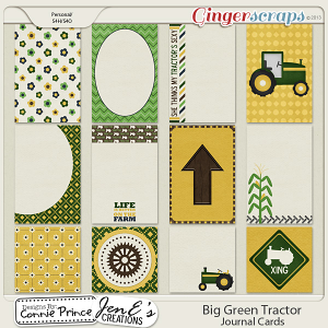 Retiring Soon - Big Green Tractor - Journal Cards