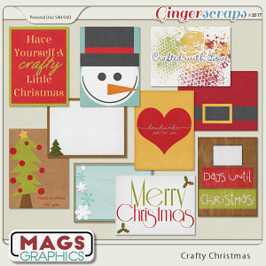 Crafty Christmas JOURNAL CARDS by MagsGraphics