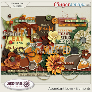 Abundant Love - Elements by Aprilisa Designs