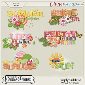 Simply Sublime - WordArt Pack