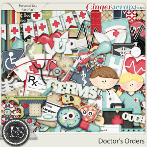 Doctors Orders Digital Scrapbook Kit