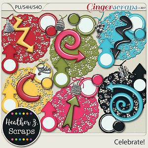 Celebrate! ACCENTS by Heather Z Scraps