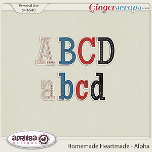 Homemade Heartmade - Alpha by Aprilisa Designs