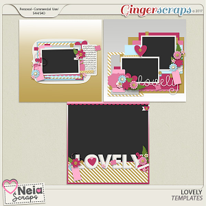 Lovely - Templates- by Neia Scraps