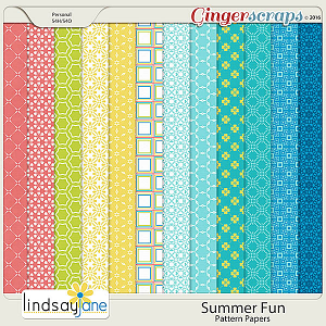 Summer Fun Pattern Papers by Lindsay Jane