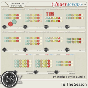 Tis The Season CU Photoshop Styles Bundle