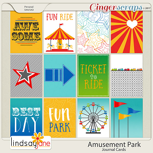 Amusement Park Journal Cards by Lindsay Jane