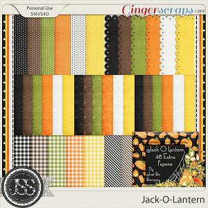 Jack O Lantern Pattern Papers