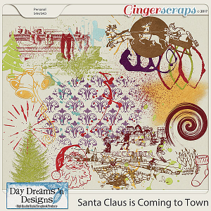Santa Claus is Coming to Town {Stamps & Paint} by Day Dreams 'n Designs