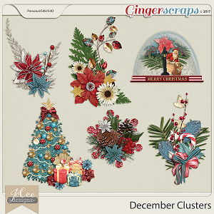 December Clusters by JoCee Designs