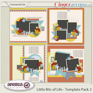 Little Bits Of Life - Template Pack 2