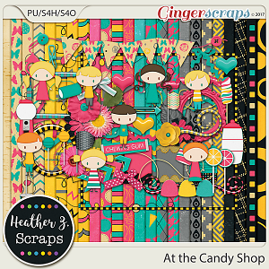 At the Candy Shop KIT by Heather Z Scraps