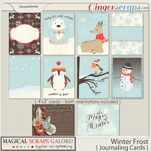 Winter Frost (journaling cards)