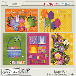 Easter Fun - Printable Greeting Cards