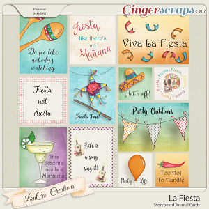La Fiesta Storyboard Journal Cards
