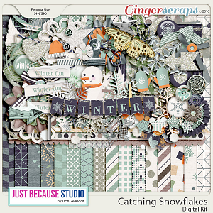 Catching Snowflakes Digital Kit by JB Studio